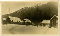 Snow-covered hamlet Excursion Inlet, Alaska