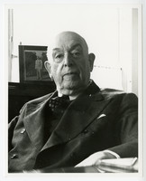 Close up photograph of seated, elderly Archie W. Shiels in three-piece suit