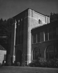 1947 Campus School Building, Main Entrance Tower