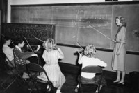 1950 Violin Lesson with Norma Jean Swan, Student Teacher