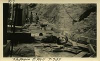 Lower Baker River dam construction 1925-07-07 Tile Drain E. Wall