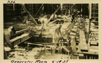 Lower Baker River dam construction 1925-06-14 Generator Room