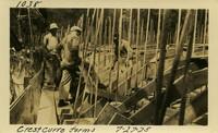 Lower Baker River dam construction 1925-07-27 Crest curve forms