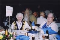 2007 Reunion--Golden Viking Phyllis (Plummer) Knick and daughter Linda at the Banquet