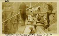 Lower Baker River dam construction 1925-06-06 Placing Concrete N. Wall Power