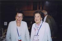 2007 Reunion--Joan (Haggard) King and Margaret (Haggard) Miller at the Banquet