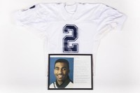 Football Jersey and Photograph: Jersey #2 and photograph of Orlondo Steinauer, honors and records, 1992/1996