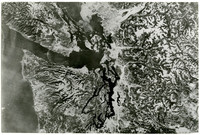 Unidentified aerial view of the Salish Sea