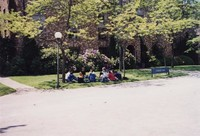 1997 Students on College Hall Lawn