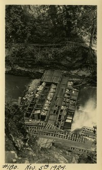 Lower Baker River dam construction 1924-11-05 Cofferdam