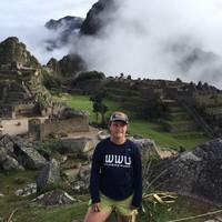 Representing at the Ruins - Machu Picchu, Peru