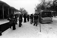 1970 Students at Bus Stop