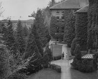 1946 Main Building Front Walk