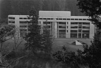 1975 Arntzen Hall with Log Ramps