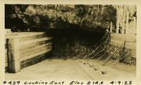 Lower Baker River dam construction 1925-04-09 Looking East Elev 214.5