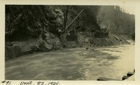 Lower Baker River dam construction 1924-09-23 Flood