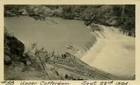 Lower Baker River dam construction 1924-09-23 Upper Cofferdam during flood