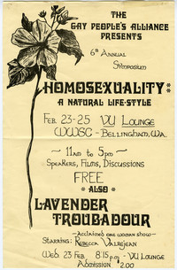 The Gay People's Alliance 6th Annual Symposium