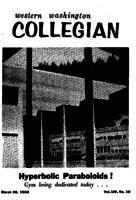 Western Washington Collegian - 1962 March 30