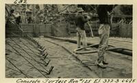 Lower Baker River dam construction 1925-06-06 Concrete Surface Run #125 El.332.3