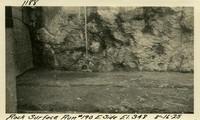 Lower Baker River dam construction 1925-08-16 Rock Surface Run #190 E. Side El.348