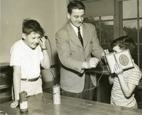 1948 Sixth Grade Boys With John Clark, Student Teacher