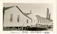 Cannery buildings on docks of Naknek, Alaska, 1940