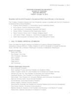 WWU Board of Trustees Minutes: 2014-10-10