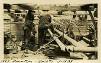 Lower Baker River dam construction 1925-05-15 Drain Pipe Unit #1