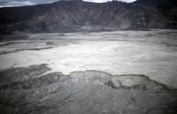 Debris flow northeast of mountain.