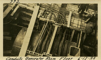 Lower Baker River dam construction 1925-06-17 Conduits Generator Room Floor Power House