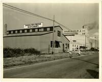 Poultrymen's Hatchery building and Darigold milk processing plant