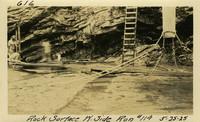 Lower Baker River dam construction 1925-05-25 Rock Surface W. Side Run #114