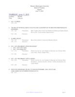 WWU Board of Trustees Packet: 2015-06-11