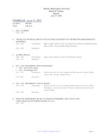WWU Board of Trustees Packet: 2015-06-11