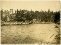Cove near the tip of Clark's Point as viewed from Chuckanut Bay