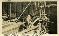 Lower Baker River dam construction 1925-08-26 Tail Race Forms