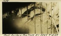 Lower Baker River dam construction 1925-09-04 Rock Surface Run #209 El.384.5