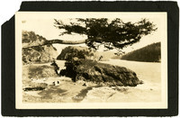 Deception Pass view from the northwest before construction of the bridge