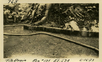 Lower Baker River dam construction 1925-06-16 Tile Drain Run #135 El.274