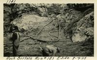 Lower Baker River dam construction 1925-08-09 Rock Surface Run #183 E. Side