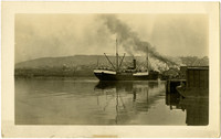 "The ""Windber"" cannery vessel docked at Pacific American Fisheries"
