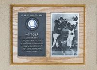 Hall of Fame Plaque: Hoyt Gier, Football (Wide Reciever), Class of 1993