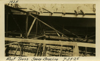 Lower Baker River dam construction 1925-07-25 Roof Truss Sway Bracing