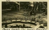Lower Baker River dam construction 1925-06-18 Placing Concrete Floor Generator Room