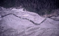 Aerial view of the South Fork of the Toutle River.