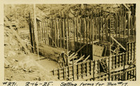 Lower Baker River dam construction 1925-02-16 Setting Forms for Run #17