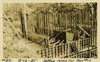Lower Baker River dam construction 1925-02-16 Setting Forms for Run #17