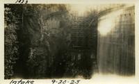 Lower Baker River dam construction 1925-09-20 Intake
