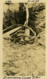 Lower Baker River dam construction 1925-05-10 Grounding Cones #2 Unit